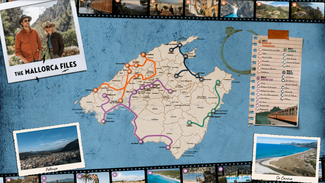 ruta the mallorca files localizaciones mapa